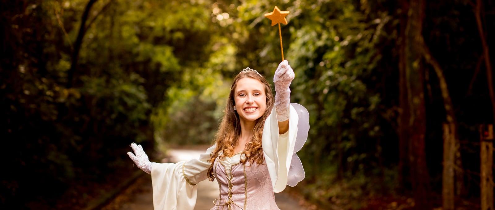 Para isso a fada madrinha usa a magia do amor!